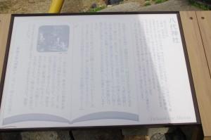 八代神社の説明板(神島)