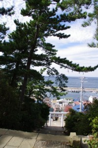 八代神社からの眺望(神島)