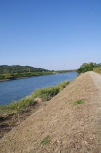 五十鈴川の右岸(堀割橋下流側)