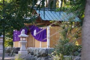 お白石持ちを終えた箕曲神社(伊勢市小木町)
