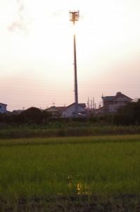 河原神社付近の夕暮れ