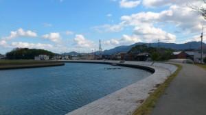 勢田川(二軒茶屋付近)