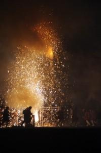 5.赤松煙火保存会(徳島県美波町)吹筒花火