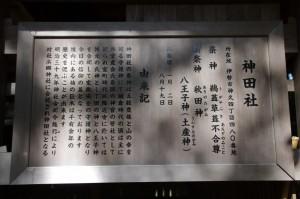 神田社の由来記(伊勢市神久)
