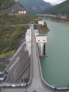 奥香肌湖 (蓮ダム)展望台からの風景