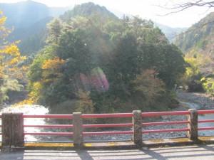 八雲橋(月出川)から望む櫛田川の風景