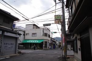多武峯街道と初瀬街道との交差点
