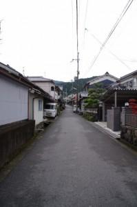 聖林寺方向へ(多武峯街道)