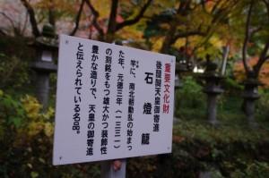 (14)石燈籠の説明板(談山神社)