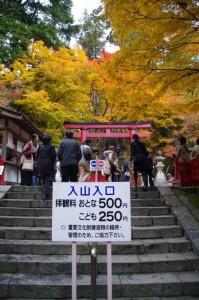 (17)正面入山入口受付付近(談山神社)