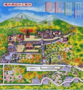 境内周辺の案内図(談山神社)