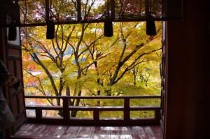 (11)拝殿内からの風景(談山神社)
