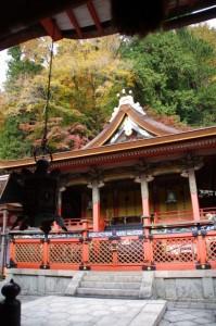 (11)拝殿内から望む(9)本殿(談山神社)