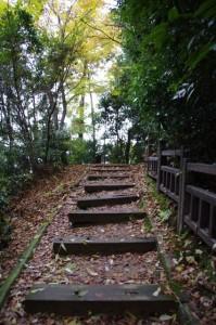 御破裂山の展望所へ(談山神社)