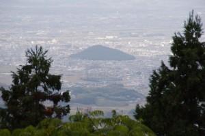 御破裂山 展望所からの眺望(談山神社)