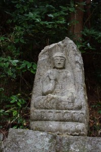 談山神社西大門跡の石仏