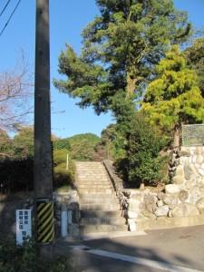 展望台、坂本農村公園への石階(坂本棚田)