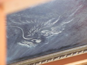 八大龍王社 天井に描かれた龍(朝熊ヶ岳山頂)
