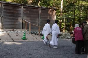 月次祭 奉幣の儀を終えた正宮付近(外宮)
