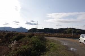 鏡宮神社付近から望む鹿海神社方向