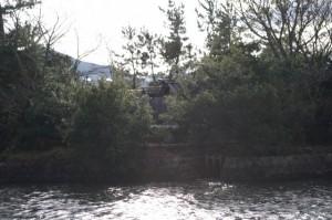 鏡宮神社と虎石