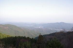 日の出の森 大駐車場からの眺望(度会町)