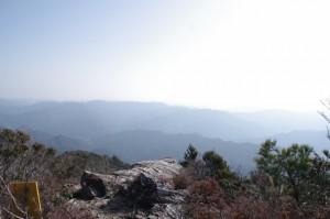 獅子ヶ岳の案内板(獅子岩付近)からの眺望