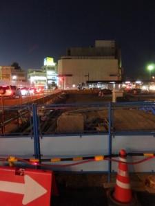 再開発中の伊勢市駅前と解体中のJOY CITY