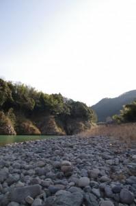 三瀬の渡し場跡付近(宮川)