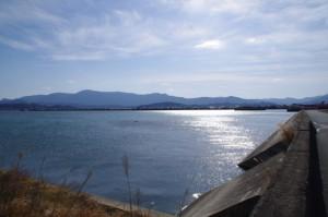 勢田川、五十鈴川の合流地点付近