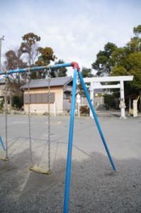 馬瀬神社(伊勢市馬瀬町)前の広場