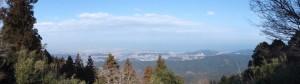 朝熊峠からの風景 パノラマ(120°)