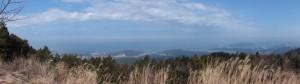 朝熊ヶ岳山頂からの風景 パノラマ(120°)