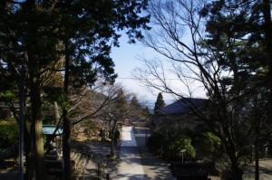 仁王門からの風景(金剛證寺)
