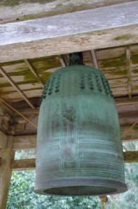鐘楼の吊鐘(丸興山庫蔵寺)