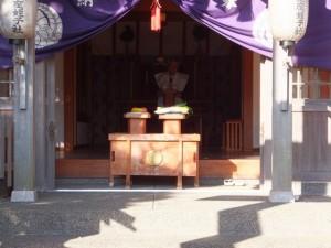 節分祭の後片付(伊勢上座蛭子社)