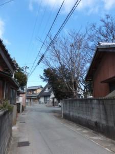 山の神付近(伊勢市村松町)