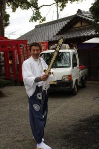鉾竹の焼却(今社の御頭神事)