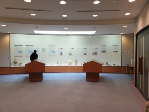 「宮川下流域の古墳遺跡」展示の全景