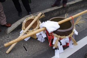 五身懸祭 - 道中練り歩き準備(川添神社)