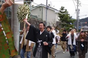 五身懸祭 - 道中練り歩き(川添神社)