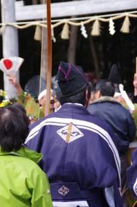 五身懸祭 - 参進準備(川添神社)