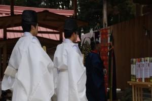 五身懸祭 - 宮司一拝(川添神社)