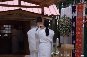 五身懸祭 - 献饌(川添神社)