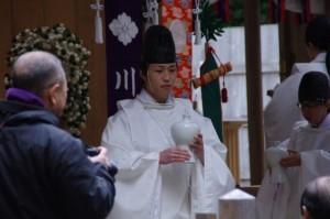 五身懸祭 - 献酒神事(川添神社)