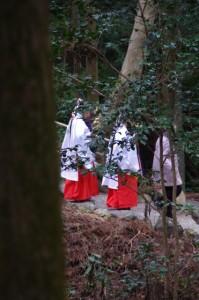 五身懸祭 - 舞姫退出(川添神社)