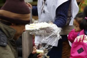 五身懸祭 - 酒の肴の大根(川添神社)
