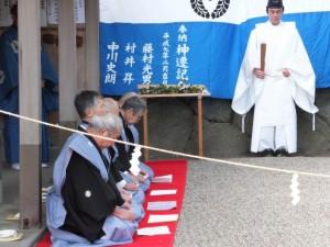 栄通神社例祭 奉納(伊勢市通町)