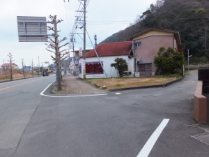 音無山高松稲荷側登り口への分岐(堅田神社付近)