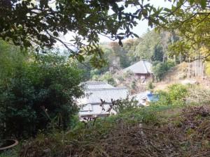 音無山園地から太江寺への途中から望む太江寺